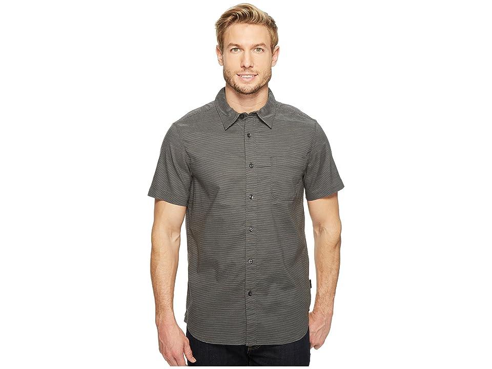 The North Face Short Sleeve On Sight Shirt (Asphalt Grey Stripe (Prior Season)) Men