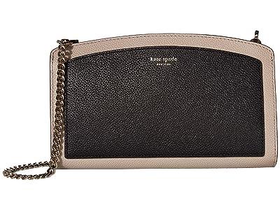 Kate Spade New York Margaux East/West Crossbody (Black/Warm Taupe) Cross Body Handbags