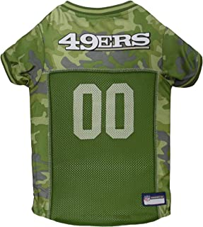 Pets First NFL SAN FRANCISCO 49ERS CAMOUFLAGE DOG JERSEY, Medium. - CAMO PET Jersey available in 5 sizes & 32 NFL TEAMS. Hunting Dog Shirt