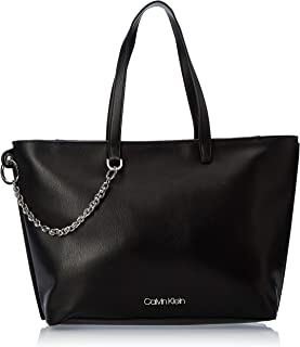 Calvin Klein Chained Shopper Bag, Black, 38 cm
