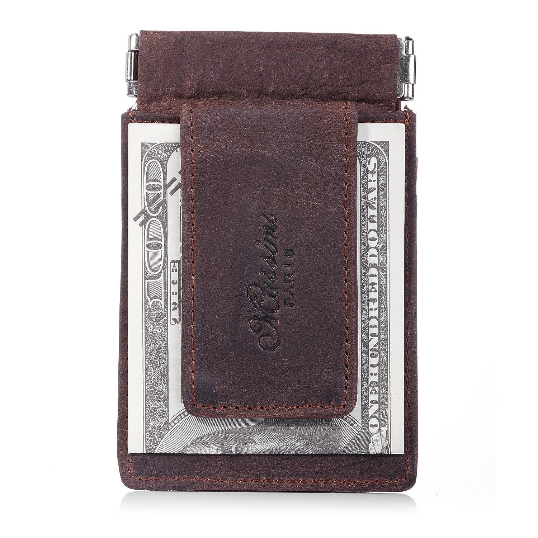 マネークリップ レザー マネーくりっぷ 財布 マネークリップ 小銭入れ RFID ブロッキング カード入れ