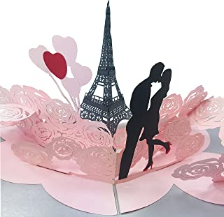 Love in Paris - Special 2 Layers 3D Pop Up Card (Copyrighted)
