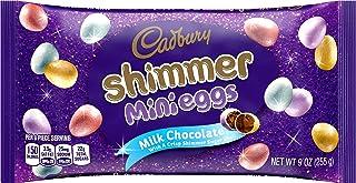 CADBURY MINI EGGS Milk Chocolate with Crisp Shell Shimmer Candy, Easter, 9 oz Bag