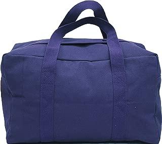 Military Canvas Parachute Cargo Carry Bag - Small (19 x 12 x 11) Navy Blue