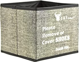 Shoe Covers Box, Foldable Collapsible Shoe Covers Holder Bootie Box holds up to 100 Disposable Shoe Covers Box for Realtor...
