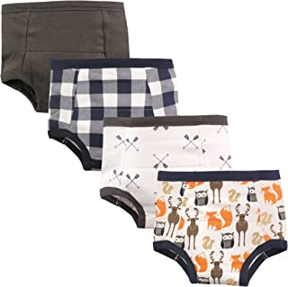 Hudson Baby Unisex-Baby Cotton Training Pants, 4 Pack Training Underwear