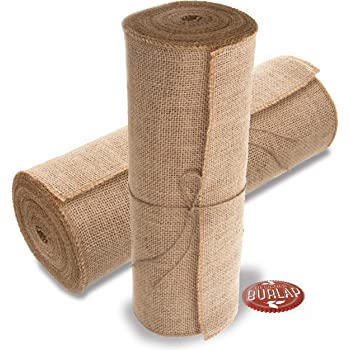 Natural Kel-Toy Burlap Jute Table Runner//Fold and Sew Edge 14 by 72-Inch