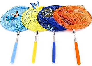 QH-Shop Vlindernet, voor kinderen, uittrekbaar vlindernet, roestvrij staal, insecten, visnet, achtertuin, natuur, expertis...