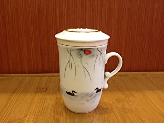Top Grade Chinese Tea Cup with Infuser (Hand-painted Lakeside 220ml)