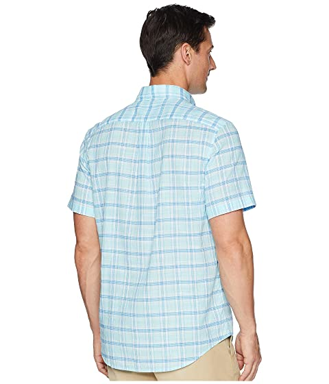 Tucker Camisa Vineyard corta la clásica Manga de Plaid Point Flat piscina Vines de Lado xCCzqwHS