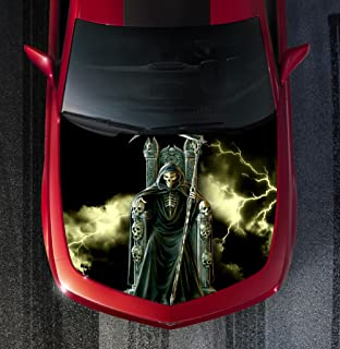 Avery H18 GRIM REAPER - HOOD WRAP - Wraps Decal Sticker Tint Vinyl Image Graphic Carbon Print Laminated Printed Fiber