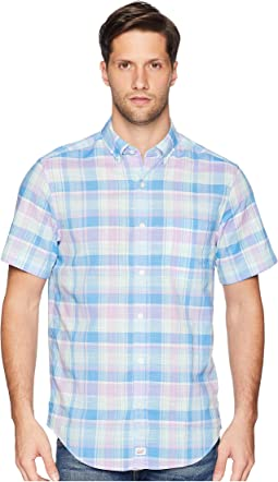 Lagoon Pond Plaid Short Sleeve Classic Murray Shirt