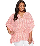 MICHAEL Michael Kors - Plus Size Pella Ring Flutter Top