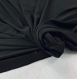 "FabricLA ITY Fabric Polyester Spandex, 2 Way Strectch, 58"" - 60"" Wide (5 Yards) - Black"