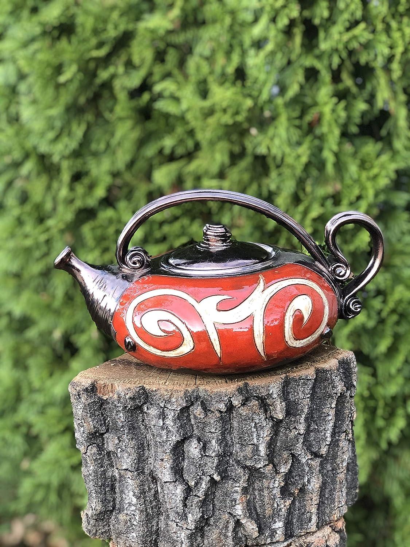 Handmade Ceramic Ranking TOP2 teapot Art pottery Hand Red Import tea glazed
