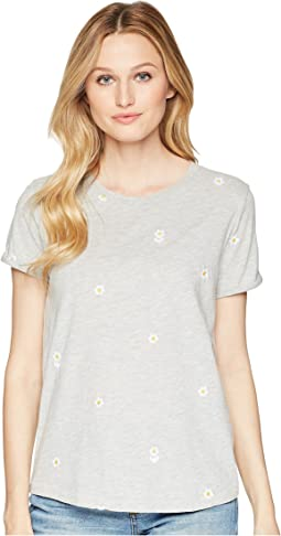 All Over Embroidered Daisies Tee