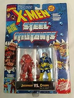 Marvel X-Men Steel Mutants Juggernaut vs. Cyclops Die Cast Action Figures