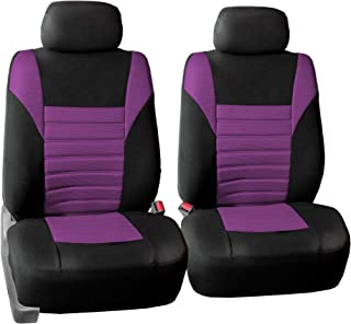 FH Group FB068PURPLE102 Half Purple Universal Bucket Seat Cover (Premium 3D Air mesh Design Airbag Compatible)
