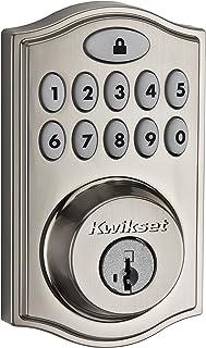 Kwikset 99140-008 SmartCode 914 Keypad Keyless Entry Zigbee Smart Lock Connected Deadbolt Door Lock Featuring SmartKey Sec...