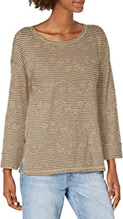 Lucky Brand womens EYELET STRIPE TEE Shirt