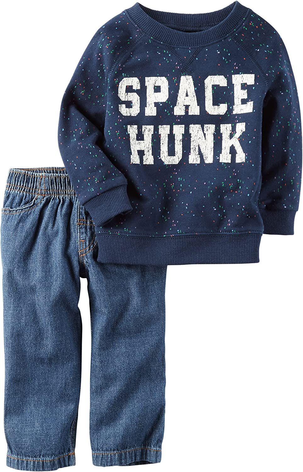 Carter's Space Hunk Pullover with Denim Set