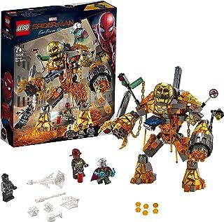 LEGO Marvel Super Heroes - Batalla contra Molten Man, Juguete de Construcción de la Película Spider-Man Lejos de Casa, Incluye Minifigura de Mysterio (76128)