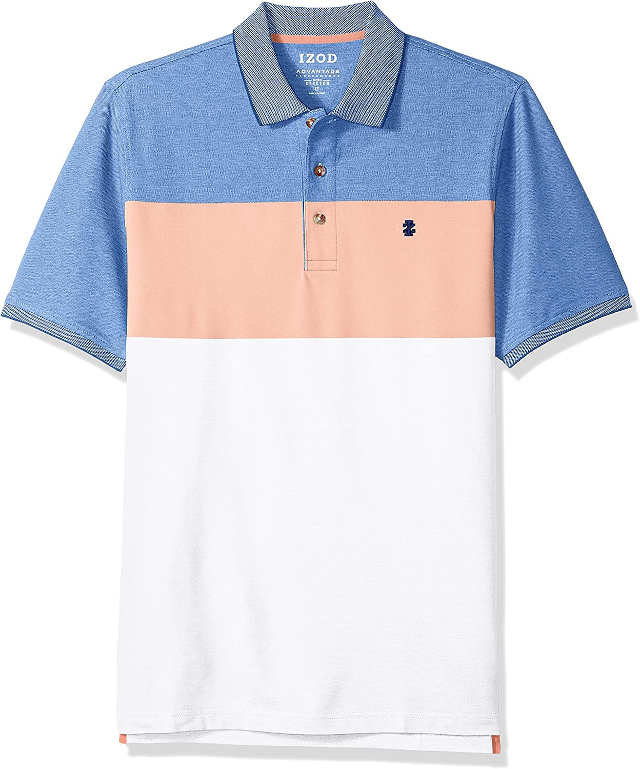 IZOD Men's Big and Tall Advantage Performance Short Sleeve Colorblock Polo (Discontinued)