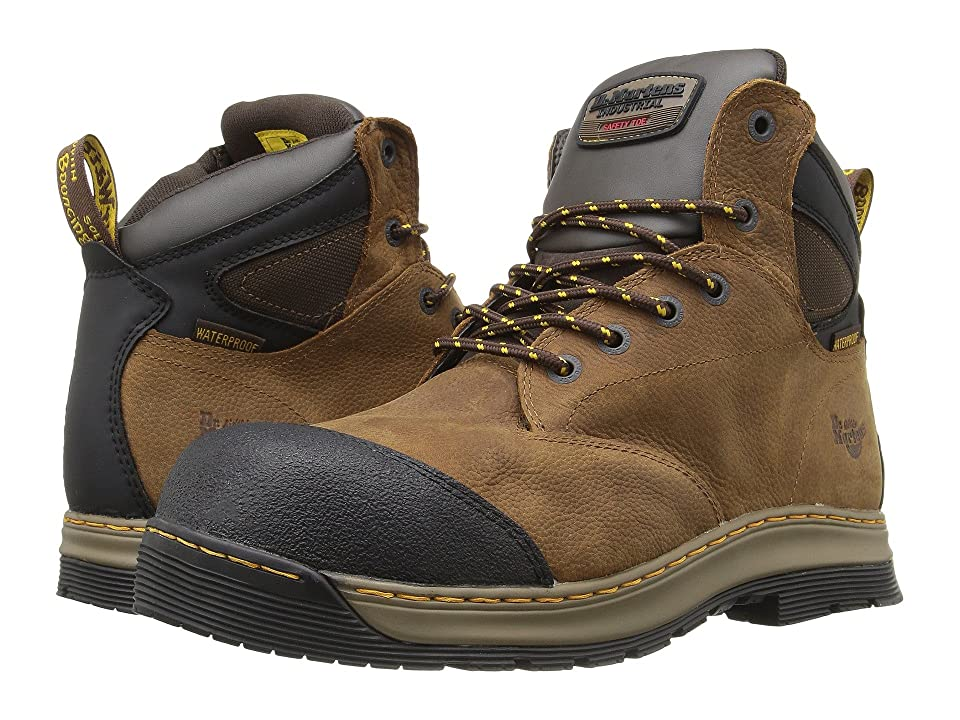 Dr. Martens Deluge Electrical Hazard Waterproof Steel Toe 6-Eye Boot (Brown Overlord Waterproof) Men