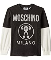 Moschino Kids - Logo Graphic T-Shirt w/ Contrast Sleeves (Little Kids/Big Kids)