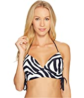 MICHAEL Michael Kors - Quincy Zebra Lace-Up Halter Bikini Top