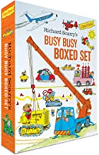 Richard Scarry's Busy Busy Boxed Set: Busy Busy Airport; Busy Busy Cars and Trucks; Busy Busy Construction Site; Busy Busy...