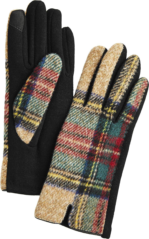 Mud Pie womens Large Tartan Plaid Glove