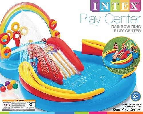 ventas en línea de venta INTEX Centro De Juegos Juegos Juegos Arcoiris 297x193x135 Cm 57453NP  descuento de ventas