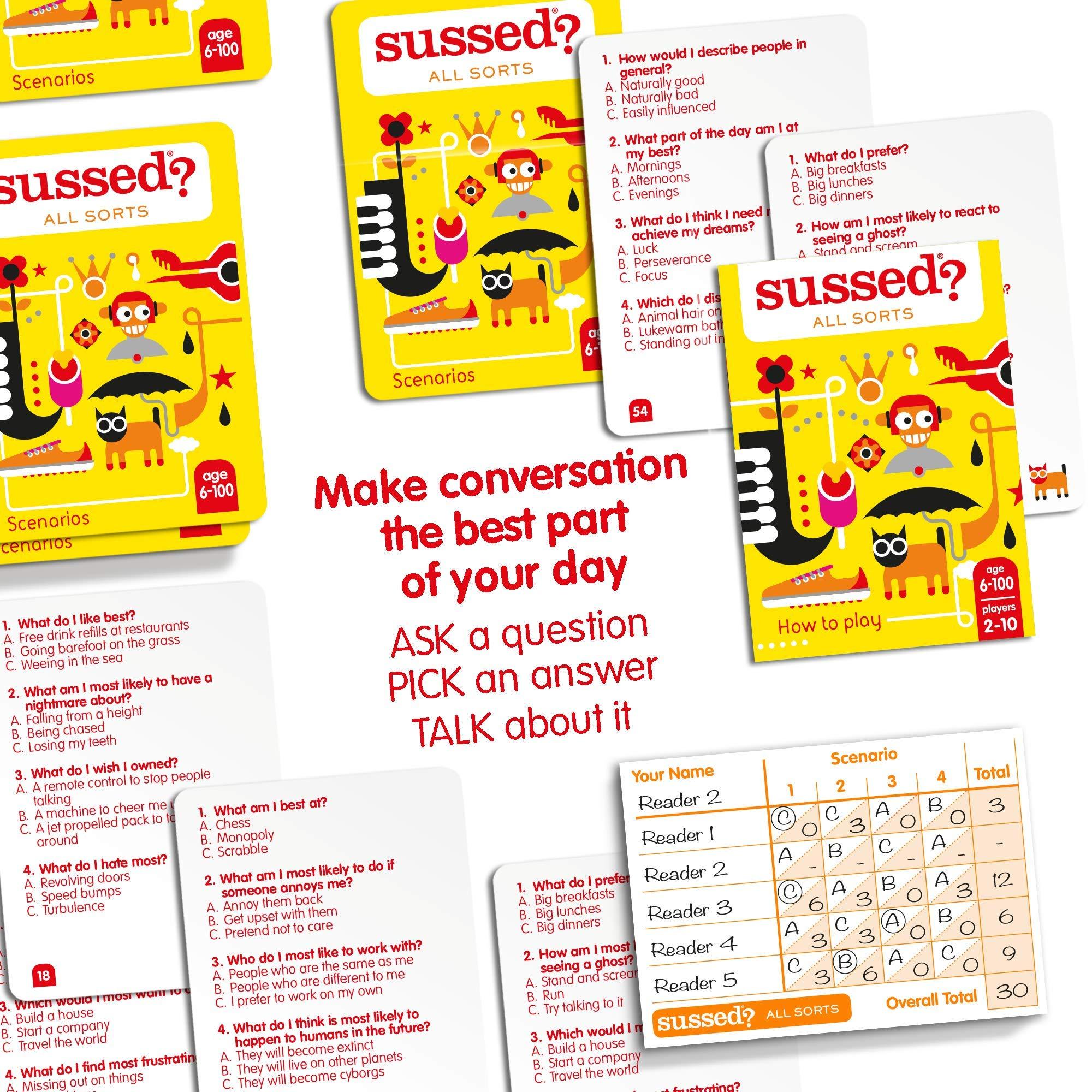 SUSSED ALL SORTS (EDICIÓN EN INGLÉS) (Divertidísimo y familiar juego de conversación de cartas) (Descubre quién conoce mejor a quién): Amazon.es: Juguetes y juegos