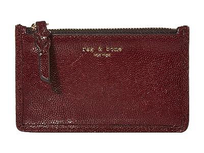 rag & bone Field Zip Card Case (Merlot) Wallet
