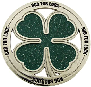 Four Leaf Shamrock St. Patrick Irish Day Clover Lucky Belt Buckle Metal Fashion