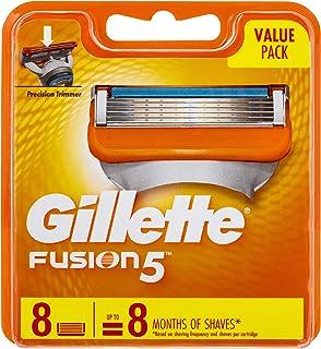 Gillette Fusion Men's Shaving Razor Blades, 8 Pack Refill Cartridges, Mens Fusion Razors / Blades
