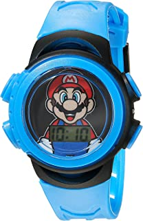 Nintendo Boys' Quartz Watch with Plastic Strap, Blue, 20 (Model: GMA3007