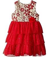 Nanette Lepore Kids - Lurex Jacquard Bodice with Layered Tulle Bottom Dress (Infant)