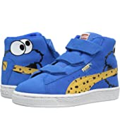 Puma Kids - Suede Mid Sesame Cookie Monster V PS (Little Kid/Big Kid)