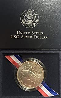 1991 D US USO Silver Comes in Packaging from the US Mint Dollar Uncirculated US Mint