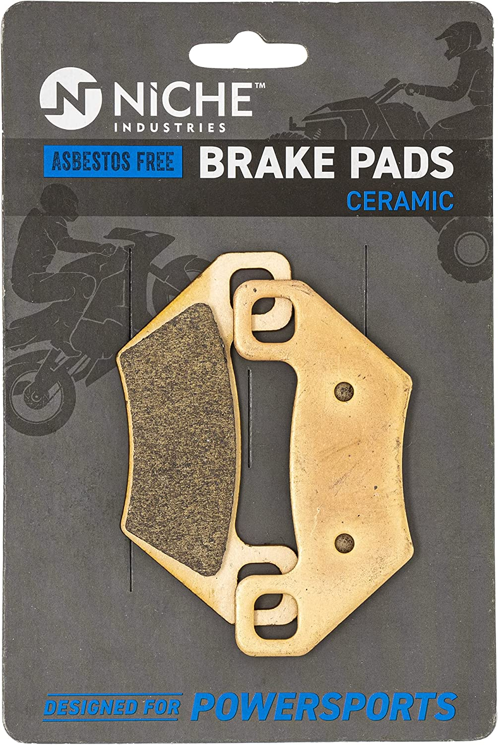 NICHE Ceramic Front Rear Brake Animer and Japan's largest assortment price revision Pad Arctic Cat 1 for 1436-420 Set