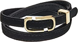 Marc Jacobs Double J Triple Wrap Leather Bracelet