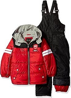 London Fog Big Boys 2-Piece Colorblock Snow Bib and Jacket Snowsuit