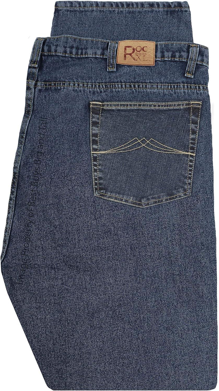 ROCXL Big & Tall Men's Stretch Denim Jeans Sizes 44-68 Ash Blue