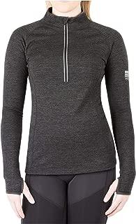 Womens Base Layer 100% Merino Wool Heavyweight 320g Half Zip Sweater for Women