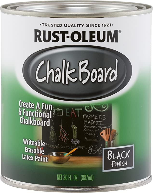 Rust Oleum Not Available 206540 Chalkboard Brush On Black 30 Ounce 30 Oz