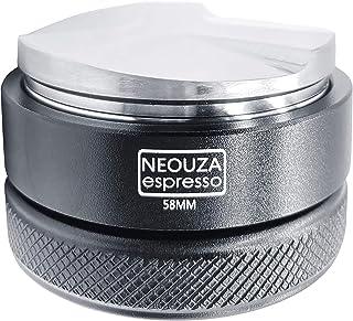 NEOUZAコーヒーディストリビューター58 mmエスプレッソ配布ツール、58 mm E61グループマシン用フィットポルタフィルター、コーヒーディストリビューターレベラー