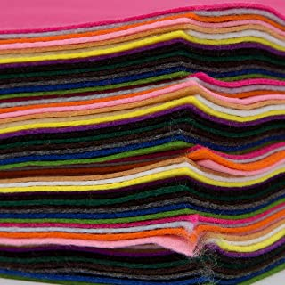 YOFIT Acrylic Felt Jumbo Pack - 60 Sheets - 8.3 x 11.7 Inch - 15 Assorted Colours