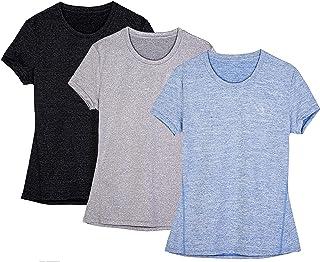 Laufshirt Kurzarm,Performance T-Shirt f/ür Damen CRZ YOGA Damen Sport Fitness Shirt Sportbekleidung